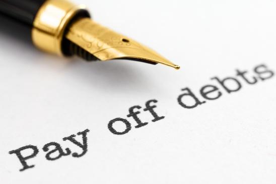 Pay off debts