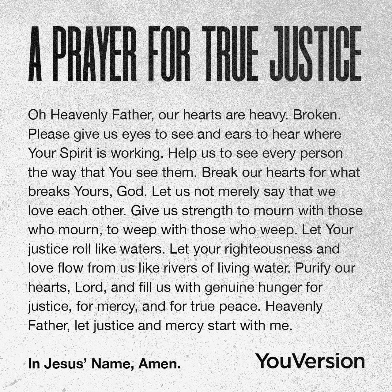 prayer for true justice
