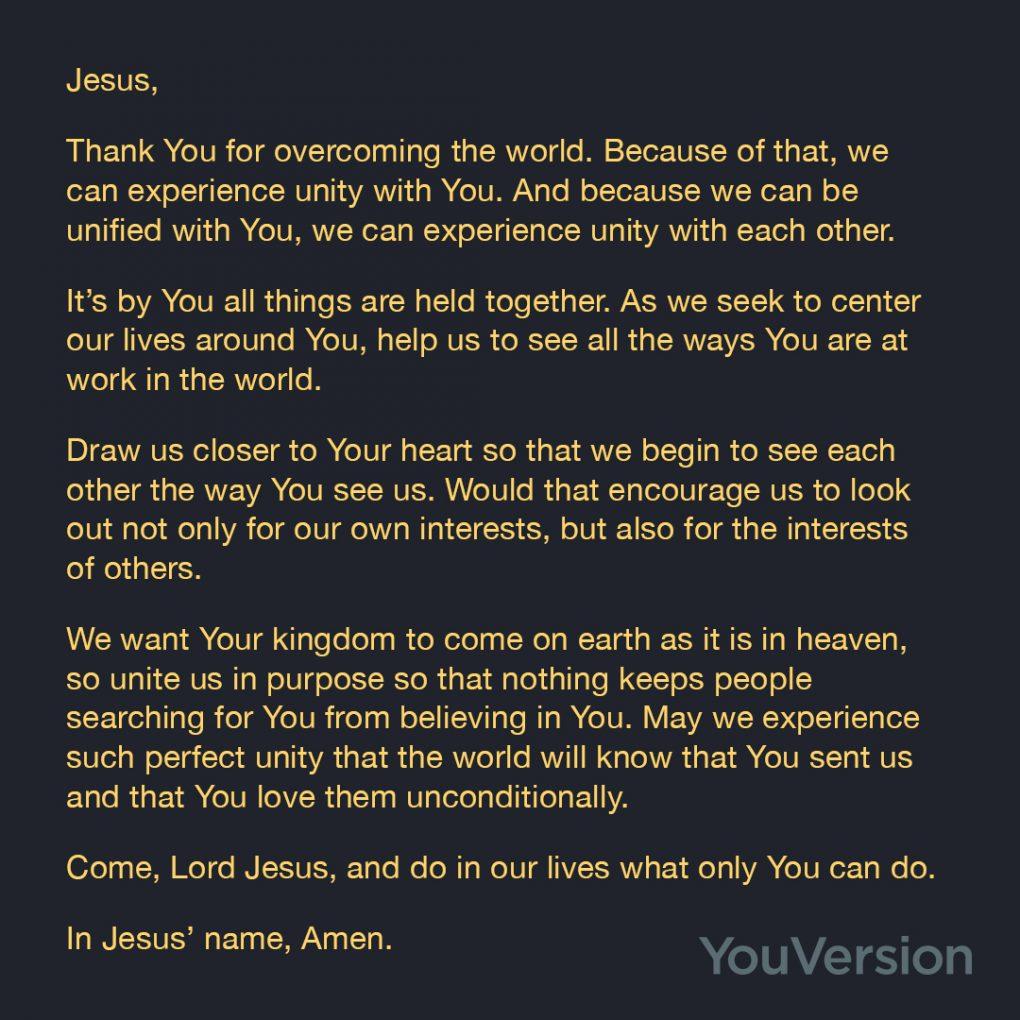 A Prayer for Unity